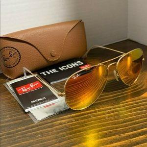 Ray-Ban Sunglasses Orange Flash RB3025 112/69 55mm